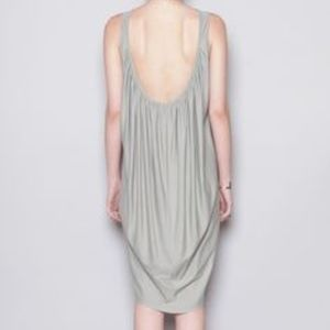 Backless light gray tank dress | Black Crane NWOT